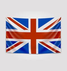 Hanging flag of great britain united kingdom of vector