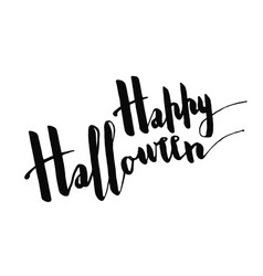 happy hallowwen positive greeting phrase vector image