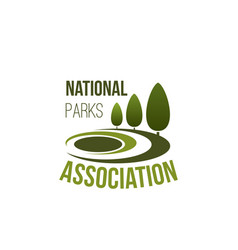 icon for national parks association vector image