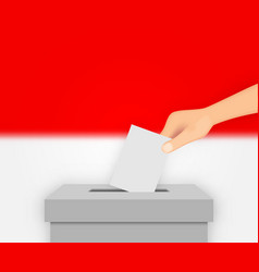 Indonesia election banner background vector