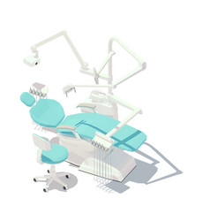 isometric low poly dental chair vector image