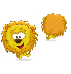 Lion front and back vector image