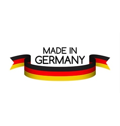 Made in Germany symbol colored ribbon with the vector image