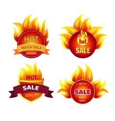 mega sale hot discounts best offer 50 percent off vector image