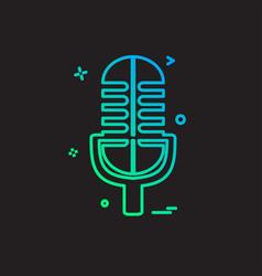 mic icon design vector image