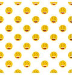 Money smile pattern seamless vector
