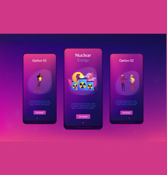 nuclear energy app interface template vector image