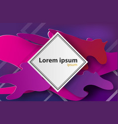 paper art of frame colorful backgroundpurple vector image