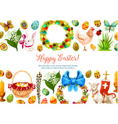 paschal geeting card for easter design vector image vector image