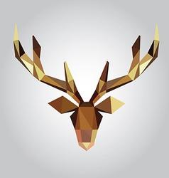 polygonal of deer head vector image