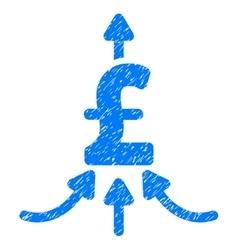 Pound Financial Aggregator Grainy Texture Icon vector