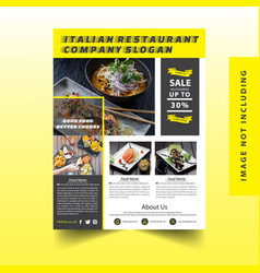 Restaurant flyer vector
