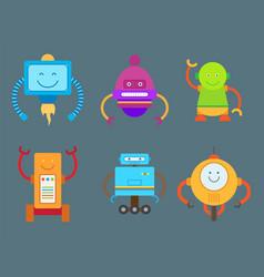 Robotic creatures collection vector