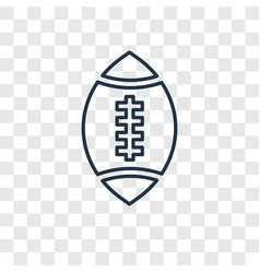 rugby ball concept linear icon isolated on vector image