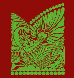 russian ornament folklore ornament withe vector image