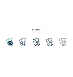 Sangria icon in different style two colored and vector