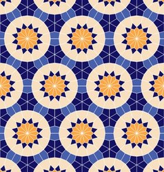Seamless geometric background of ethnic ornament vector image