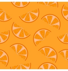 Seamless pattern of orange slices vector