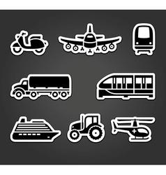 Set of sticky stickers transport symbols vector image
