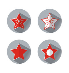 Set stars icons in flat style vector