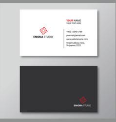 Simple minimalist business card design template vector
