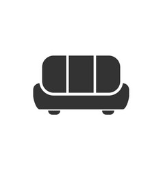 sofa icon flat vector image