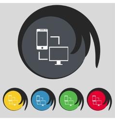 Synchronization sign icon communicators sync vector