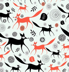 texture of foxes vector image
