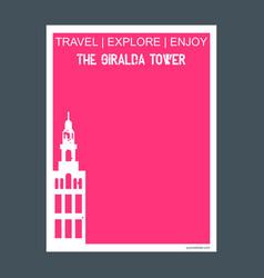 The giralda tower seville spain monument landmark vector