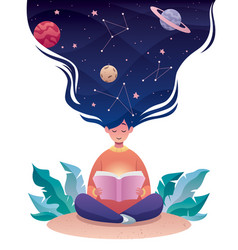 Thinking astrology vector