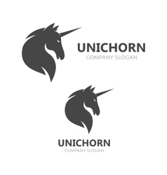 unicorn or horse logo template vector image
