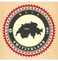 Vintage label-sticker cards of Switzerland vector