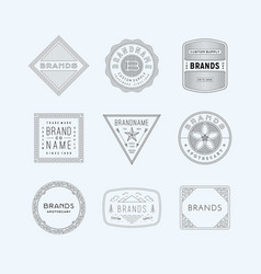 vintage logo insignia badge set 5 vector image