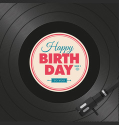 Vinyl-birthday vector