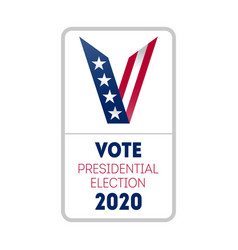 vote 2020 in usa vertical banner design for vector image