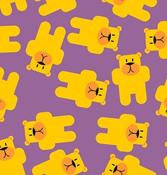 Yellow bear Mamey seamless pattern Yellow bear in vector image