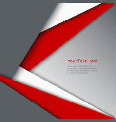 Abstract red white grey triangles background vector