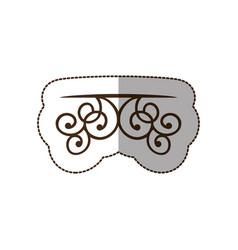 brown decorative swirl shelf icon vector image