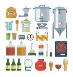 home brewing process items vector image
