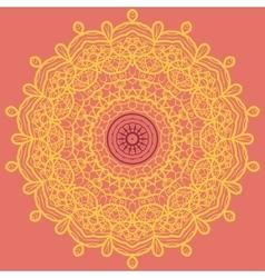 Mandala Print Orange vector image