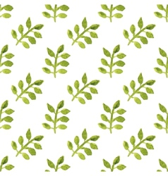Seamless watercolor pattern with leaves on the vector image