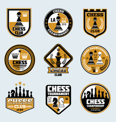 chess club labels business strategy logos vector image