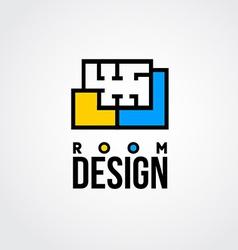 design room logo vector image vector image