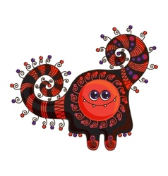 Funny monster doodle on a white background vector image vector image