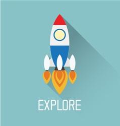 Rocket Symbol with explore concept vector image