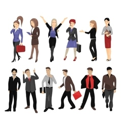 Set of full length portraits of business people vector