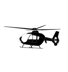 sticker on car silhouette of helicopter vector image vector image