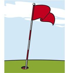 a golf flag vector image vector image