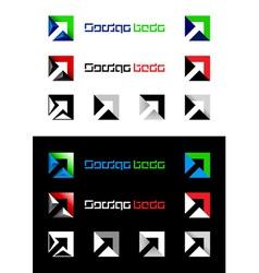 arrows design elements vector image
