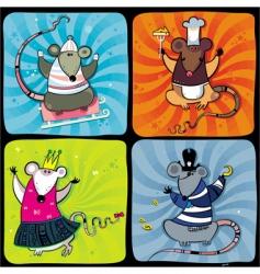 cartoon rats vector image vector image